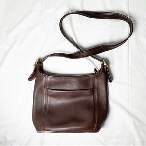 Brown Leather Coach Vintage Crossbody Bag